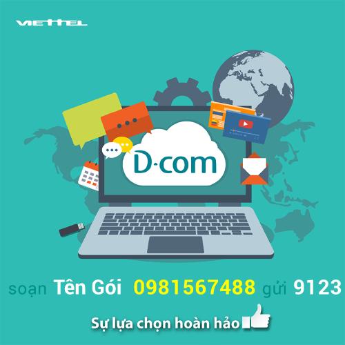gói cước Dcom 4G Viettel