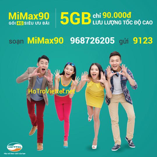 Đăng ký gói MiMax 4G Viettel