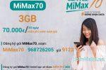 MiMax70 Viettel chỉ 70.000đ miễn phí 3GB