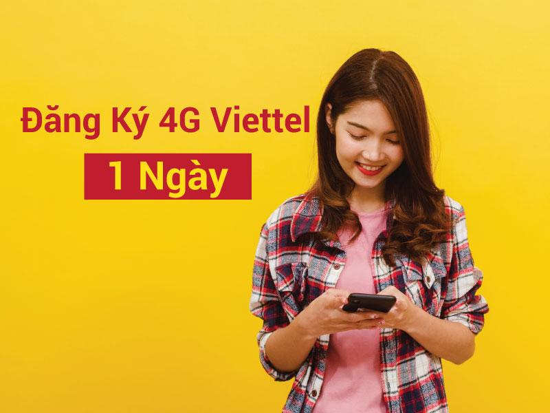 Đăng ký 4G Viettel 1 ngày