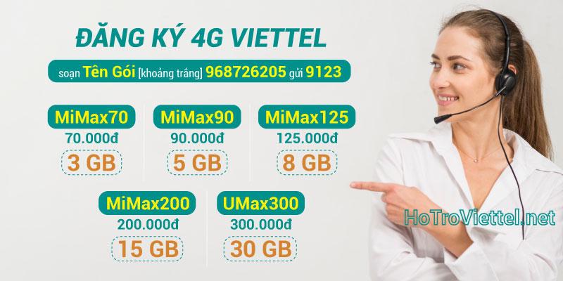 Đăng ký 4G Viettel