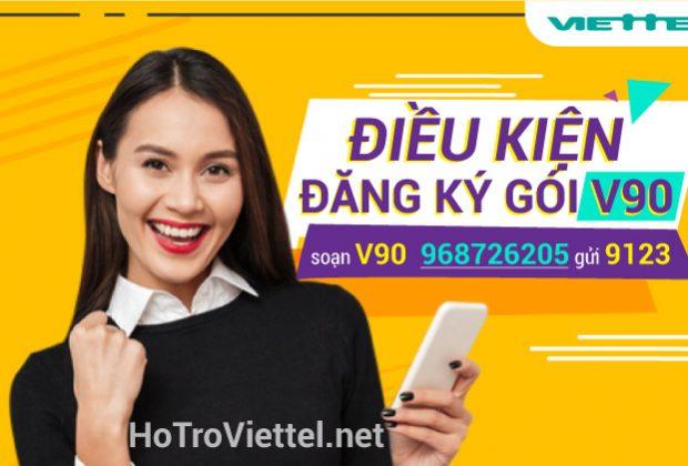 điều kiện đăng ký gói V90 Viettel