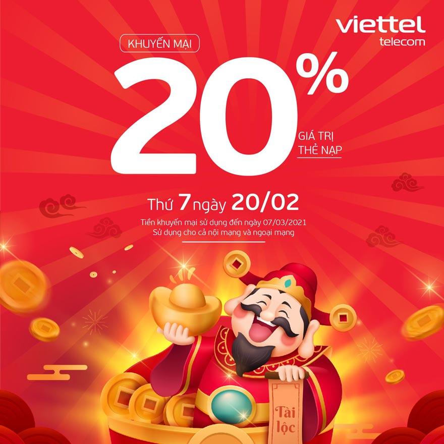 Khuyến mãi Viettel ngày 20/2/2021